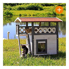 Katzenhaus Lodge aus Holz